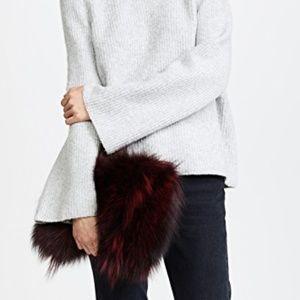 Jocelyn Genuine Fox Fur Clutch NWT